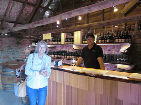 Sue and Winery Worker